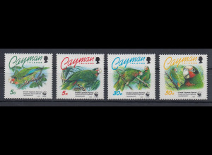 Kaiman-Inseln / Cayman Islands 1993 Papageien Mi.-Nr. 690-693 **
