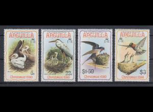 Anguilla 1980 Weihnachten Vögel Mi.-Nr. 396-99 kpl. **