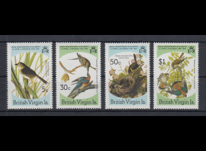 British Virgin Islands 1985 Forscher J.J. Auduban Vögel Mi.-Nr. 533-36 kpl. **