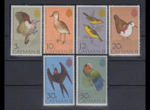Kaiman-Inseln / Cayman Islands 1975 Vögel Mi.-Nr. 350-355 **