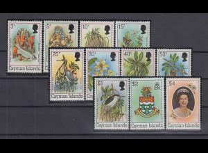 Kaiman-Inseln / Cayman Islands 1980 Freimarken Mi.-Nr. 456-466 I **