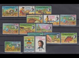 Kaiman-Inseln / Cayman Islands 1974 Freimarken Mi.-Nr. 330-343, 349 **