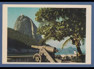AK Brasilien Rio de Janeiro Blick auf den Zuckerhut von der Praia Vermelha, 1955