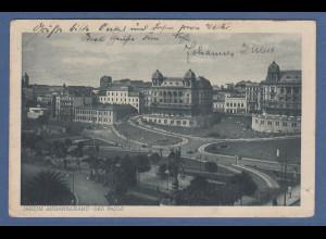 AK Brasilien Sao Paulo Jardim Anhangabahú 1928, interessant !