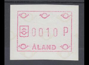 Finnland Aaland 1984 FRAMA-ATM Posthörner, Mi.-Nr. 1 **