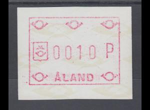 Finnland Aaland 1988 FRAMA-ATM moderne Posthörner, Mi.-Nr. 2 **