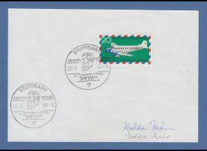 Golda Meir Ministerpräsidentin Israel original-Autogramm auf Vorlage 1969