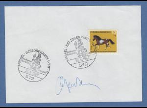 Botschafter Israel Ben-Natan original-Autogramm auf philatel. Vorlage 1969