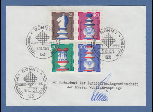 Stauss Präsident BAGFW freie Wohlfahrtspflege original-Autogramm 1972