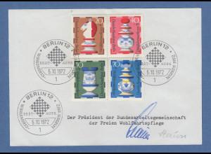 Stauss Präsident BAGFW freie Wohlfahrtspflege original-Autogramm von 1972