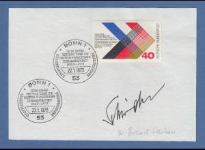 Gerhard Schröder original-Autogramm 1973