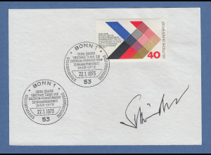 Minister Gerhard Schröder original-Autogramm von 1973