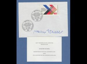Bundesminister des Auswärtigen Walter Scheel original-Autogramm 1973