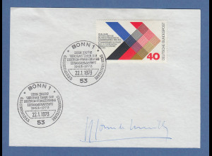 Premierminister Frankreich Couve de Murville original-Autogramm 1973