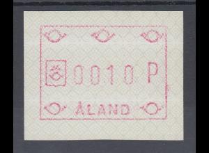 Finnland Aaland 1989 FRAMA-ATM Ornamente, Papier phosphoresz. Mi.-Nr. 3 y **
