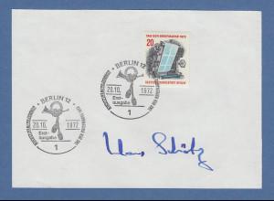 Klaus Schütz Regierender Bürgermeister v. Berlin original-Autogramm 1972