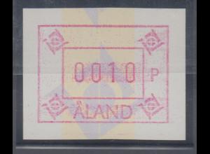 Finnland Aaland 1993 FRAMA-ATM neues Postemblem, ohne Wasserz. , Mi.-Nr. 5xd **