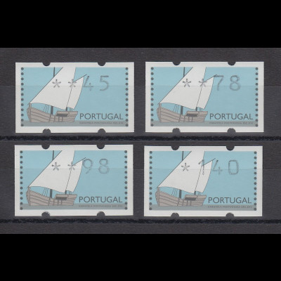 Portugal 1995 ATM Karavelle Mi.-Nr. 5 Satz 45-78-98-140 **
