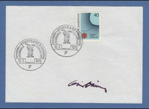 Willi Daume Präsident nationales olympisches Komitee original-Autogramm 1973