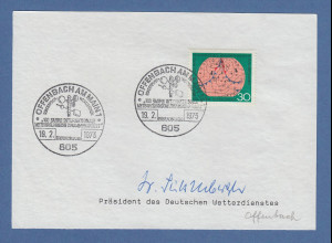 Dr. Süßenberger Präsident des Deutschen Wetterdienstes original-Autogramm 1973