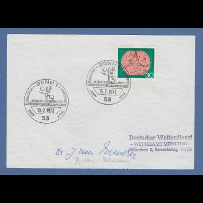 Josef van Eimern Deutscher Wetterdienst original-Autogramm 1973