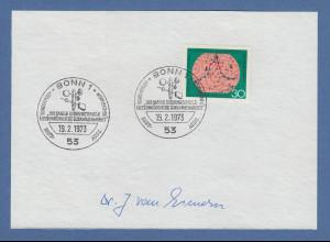 Dr. Josef van Eimern Deutscher Wetterdienst original-Autogramm 1973