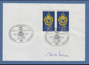 Horst Ehmke Bundesminister des Post- & Fernmeldewesen original-Autogramm 1973