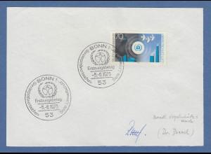 Einhard Bezzel Leitung der Staatlichen Vogelschutzwarte original-Autogramm 1973