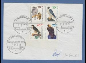 Dr. Bezzel Vizepräsident Dt. Ornithologen-Gesellschaft original-Autogramm 1973