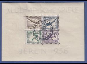 Deutsches Reich 1936 Olympische Spiele Mi.-Nr. Block 5 mit Sonderstempel