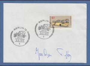 Joachim Piefke Direktor BVG original-Autogramm 1973