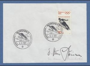 Hans Steinkohl Zweiter Bürgermeister München original-Autogramm 1971