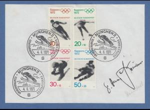 Hans Steinkohl Chirurg & Zweiter Bürgermeister München original-Autogramm 1971