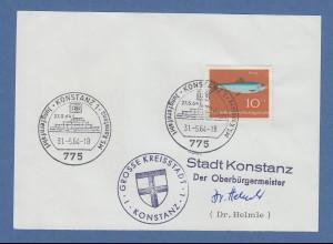 Bruno Helmle Oberbürgermeister Konstanz original-Autogramm 1964
