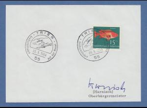 Josef Harnisch Oberbürgermeister von Trier original-Autogramm 1964
