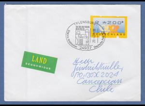 Bund ATM 3. Ausgabe Wert 200 Pfg auf Brief -> Chile Sonder-O FLENSBURG Bier 2001