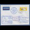 Bund ATM 5. Ausgabe Wert 1,53 € auf Brief n.NZL Cachet Gorch Fock 129.AAR 2002