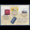 Bund 28.7.2004 schöner Lp-Brief n. Chile mit Sonder-O Landshut Ludwig Feuerbach