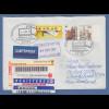 Bund ATM 5. Ausgabe Wert 3,68 € auf FDC nach NZL mit ET-Sonder-O Automatenmarken