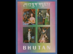 Bhutan 1970 Blockausgabe Gemälde Mi.-Nr. Block 35 **
