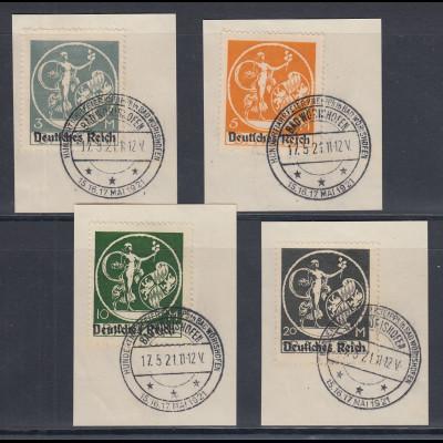 Dt. Reich auf Bayern-Abschied Mi.-Nr. 134, 136,137,138 mit So.-O Bad Wörishofen