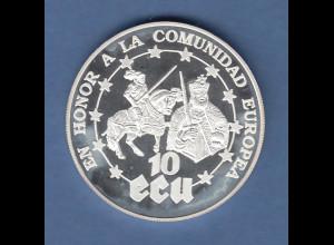 Sahara Republik Silbermünze 1000 Pesetas Europäische Gemeinschaft 31g Ag925 PP