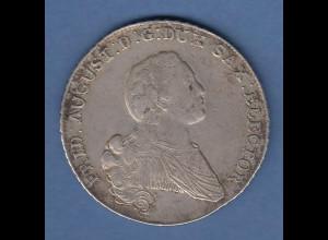 Sachsen Konventionstaler 1766 Albertinische Linie Friedrich August III. Silber