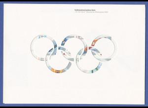 Bundesrepublik Olympia-Markenheft 2002 mit ZSD Mi.-Nr. 2237-2240 / MH 47 **