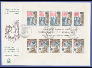 Monaco 1982, Europa-CEPT Block 19 auf FDC