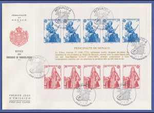Monaco 1985, Europa-CEPT Jahr der Musik Block 28 auf FDC