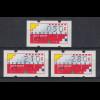 Niederlande Klüssendorf-ATM Mi.-Nr. 1 Versandstellen-Satz VS6 50-210-280 **