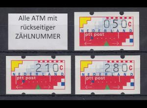 Niederlande Klüssendorf-ATM Mi.-Nr. 1 Versandstellen-Satz VS6 50-210-280 ** ZN