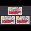 Niederlande Klüssendorf-ATM Mi.-Nr. 1 Versandstellen-Satz VS6 50-210-280 ET-O