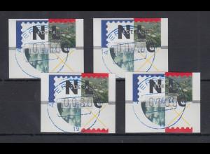 Niederlande ATM Mi.-Nr. 2.1 Typ FRAMA Satz 10-70-80-100 mit ET-O AMERSFOORT
